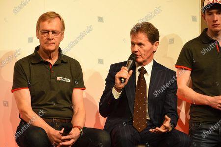 Ari Vatanen (FIN) and Malcolm Wilson (GBR), DMACK Rally Team Launch at Autosport International Show, NEC, Birmingham, England, 14-17 January 2016.