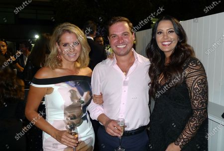 Emma Coleman (AUS), Ben Hudson (AUS) and Lydia Schiavello (AUS) at the Official Australian Grand Prix Party at Formula One World Championship, Rd1, Australian Grand Prix, Preparations, Albert Park, Melbourne, Australia, Wednesday 16 March 2016.