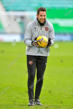 Stock Picture of Dundee Utd goalkeeping coach, Neil Alexander during the warm up before SPFL Premiership match between Hibernian FC and Dundee United FC at Easter Road Stadium, Edinburgh