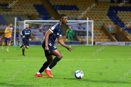 Stock Image of Southend United Richard Taylor (22) during the EFL Sky Bet League 2 match between Mansfield Town and Southend United at the One Call Stadium, Mansfield