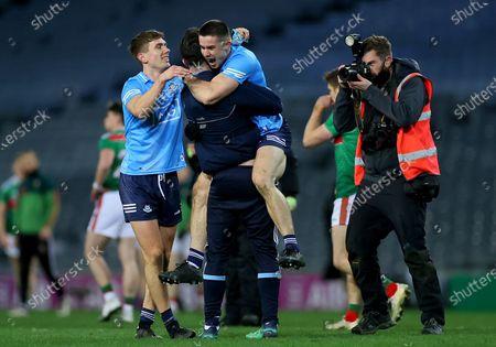 Dublin vs Mayo. Dublin's David Byrne celebrates