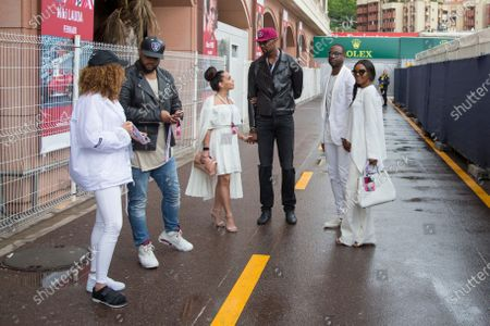 Spinz Beats (CDN) Music Producer, Chris Bosh (USA) Basketball Player with his wife Adrienne Williams Bosh (USA) and Dwyanne Wade (USA) Basketball Player and Gabrielle Union (USA) Model and Actress at Formula One World Championship, Rd6, Monaco Grand Prix, Race, Monte-Carlo, Monaco, Sunday 29 May 2016.