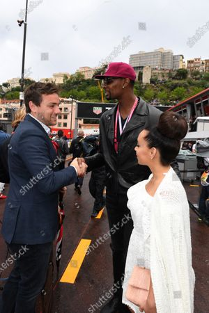 Chris Bosh (USA) Basketball Player with his wife Adrienne Williams Bosh (USA) at Formula One World Championship, Rd6, Monaco Grand Prix, Race, Monte-Carlo, Monaco, Sunday 29 May 2016.