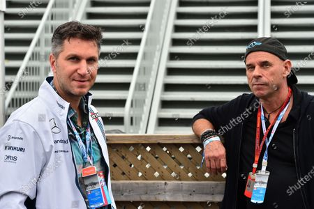 Stock Picture of David Baazov (CDN) CEO of Amaya and Guy Laliberte (CDN) Cirque de Soleil and at Formula One World Championship, Rd7, Canadian Grand Prix, Qualifying, Montreal, Canada, Saturday 11 June 2016.