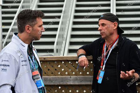 Stock Image of David Baazov (CDN) CEO of Amaya and Guy Laliberte (CDN) Cirque de Soleil and at Formula One World Championship, Rd7, Canadian Grand Prix, Qualifying, Montreal, Canada, Saturday 11 June 2016.