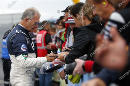 Dieter Quester signs autographs at the BMW Procar Legends Race at Formula One World Championship, Rd9, Austrian Grand Prix, Race, Spielberg, Austria, Sunday 3 July 2016.