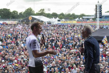 Jenson Button (GBR) McLaren and Tony Jardine (GBR) at the British Grand Prix Party at Formula One World Championship, Rd10, British Grand Prix, Race, Silverstone, England, Sunday 10 July 2016.