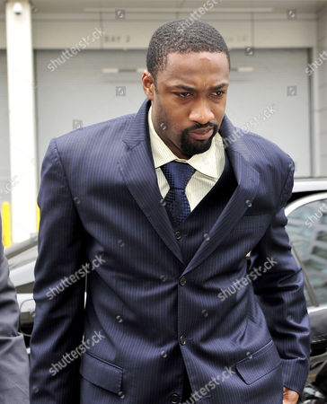 Gilbert Arenas arriving at court
