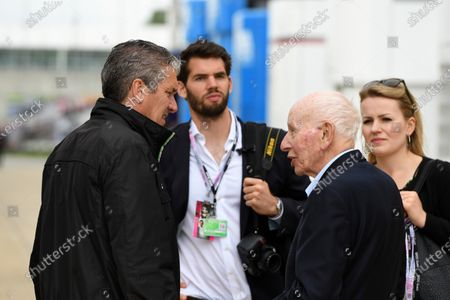 Andrew Denford (GBR) F1 in Schools and John Surtees (GBR) at Formula One World Championship, Rd10, British Grand Prix, Race, Silverstone, England, Sunday 10 July 2016.