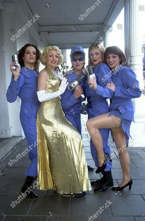 Jane Milligan (centre) Daughter Of Spike Milligan With Other Cast Members Of The Musical 'return To The Forbidden Planet' At The Theatre Royal Brighton. The Show Is Moving To The Savoy Theatre In The West End.