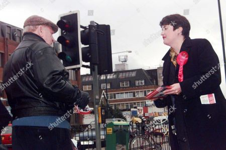 Labour Candidate For The Greater London Assembly Valerie Shawcross 42 Canvassing On The Streets Of Streatham South East London.. Lambeth & Southwark Constituency....