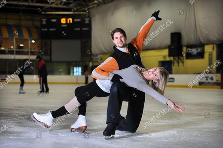 Stock Picture of Sharron Davies with dance partner Pavel Aubrecht