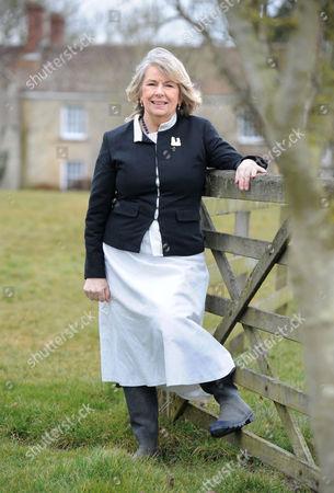 Editorial image of Charlotte Bingham at home near Bruton, Somerset, Britain - 09 Mar 2010