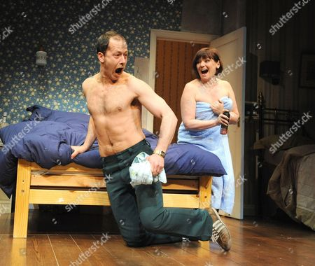 'Bedroom Farce' - Daniel Betts (Malcolm) and Finty Williams (Kate)