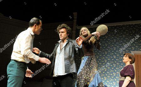 'Bedroom Farce' - Daniel Betts (Malcolm), Orlando Seale (Trevor), Rachel Pickup (Susannah) and Finty Williams (Kate)