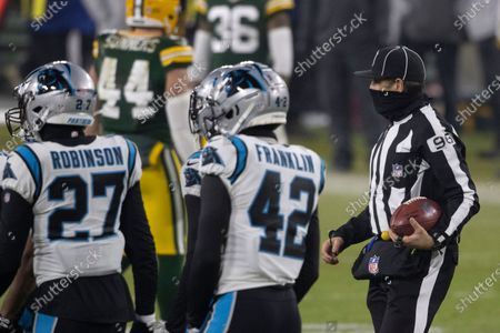 Back Judge Matt Edwards(96) during an NFL football game, Saturday, Dec 19. 2020, between the Carolina Panthers and Green Bay Packers in Green Bay, Wis