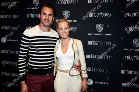 Stock Photo of Adrian Sutil (GER) and girlfriend Jennifer Becks (GER) at Amber Lounge Fashion Show, Le Meridien Beach Plaza Hotel, Monaco, Friday 27 May 2016.