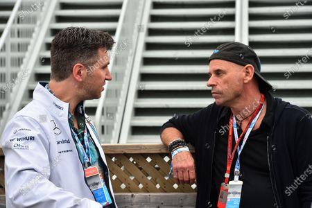 David Baazov (CDN) CEO of Amaya and Guy Laliberte (CDN) Cirque de Soleil and at Formula One World Championship, Rd7, Canadian Grand Prix, Qualifying, Montreal, Canada, Saturday 11 June 2016.