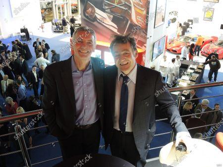 (L to R): Tony Jardine (GBR)  and Joe Macari (ITA). Joe Macari Performance Cars Grand Opening, London, England. 6 March 2014.