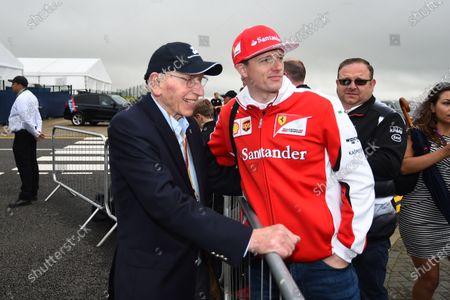 John Surtees (GBR) and fan photograph at Formula One World Championship, Rd10, British Grand Prix, Race, Silverstone, England, Sunday 10 July 2016.