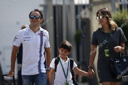 Felipe Massa (BRA) Williams with his wife Rafaela Bassi (BRA) and son Felipinho Massa (BRA) at Formula One World Championship, Rd14, Italian Grand Prix, Preparations, Monza, Italy, Thursday 1 September 2016.