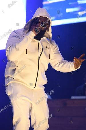 "Rick Ross performs during ""Ross The Bells"" holiday concert"