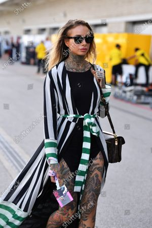 Cleo Wattenstrom (SWE) Tattoo Artist and Modelat Formula One World Championship, Rd18, United States Grand Prix, Race, Circuit of the Americas, Austin, Texas, USA, Sunday 23 October 2016.