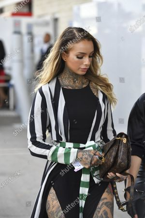 Cleo Wattenstrom (SWE) Tattoo Artist and Model at Formula One World Championship, Rd18, United States Grand Prix, Race, Circuit of the Americas, Austin, Texas, USA, Sunday 23 October 2016.