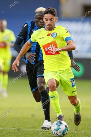 Gent's Milad Mohammadi pictured in action during a soccer match between Club Brugge KV and KAA Gent, Sunday 20 December 2020 in Brugge, on the seventienth day of the 'Jupiler Pro League' first division of the Belgian championship.