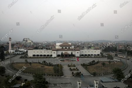 A general view of Parliament building in Kathmandu, Nepal, 20 December 2020. According to media reports, Nepalese Prime Minister K.P. Sharma Oli, in response to challenge from party rivals, recommended the dissolution of the Parliament and called for general election during an emergency Cabinet meeting held on the day. The decision has been ratified by President Bidhya Devi Bhandari, who has called a two-phase election to be held in April and May 2021, media added.