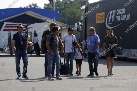 Felipe Massa (BRA) Williams his wife Rafaela Bassi (BRA), son Felipinho Massa (BRA) and Father Luiz Antonio Massa (BRA) at Formula One World Championship, Rd14, Italian Grand Prix, Preparations, Monza, Italy, Thursday 1 September 2016.