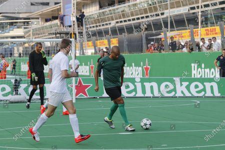 Max Verstappen (NED) Red Bull Racing and David Trezeguet (FRA) at Heineken Champions Of The Grid 5-A-Side Charity Football Match at Formula One World Championship, Rd14, Italian Grand Prix, Preparations, Monza, Italy, Thursday 1 September 2016.