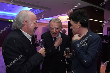 David Richards (GBR) Prodrive CEO and Max Mosley (GBR) at Zoom F1 Charity Auction and Gala Reception, InterContinental London Park Lane, London, England, 3 February 2017.