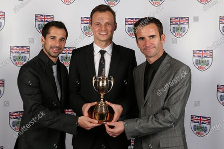 Neel Jani (SUI), Marc Lieb (GER) and Romain Dumas (FRA) at BRDC Awards, Great Connaught Rooms, London, 5 December 2016.