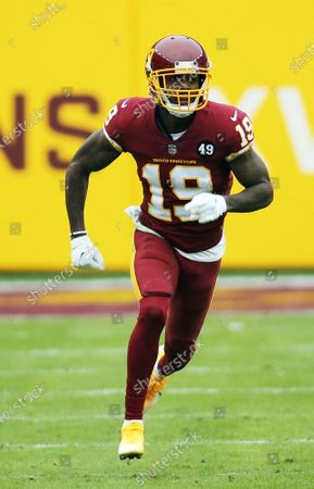 Stock Picture of Washington Football Team wide receiver Robert Foster (19) in action during an NFL football game against the Seattle Seahawks, in Landover, Md