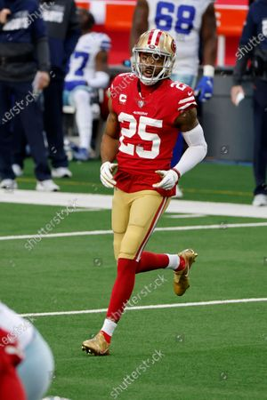San Francisco 49ers cornerback Richard Sherman (25) defends against the Dallas Cowboys during an NFL football game in Arlington, Texas