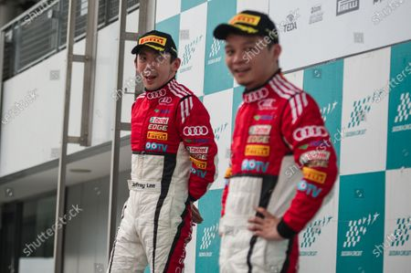 Stock Picture of Jeffrey Lee (CHN) Team Audi Volkswagen Taiwan and Jiang Xin (Kane) (CHN) KCMG at Audi R8 LMS Cup, Rd3 and Rd4, Suzuka, Japan, 10-11 June 2017.