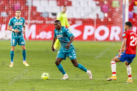 Stock Photo of William de Carvalho of Real Betis (C) in action