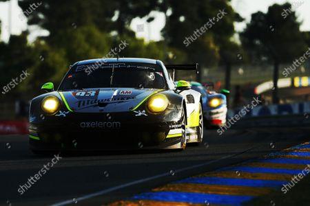 Patrick Long (USA) / Abdulaziz Turki Al Faisal (KSA) / Michael Hedlund (USA), Proton Competition Porsche 911 RSR (991) at Le Mans 24 Hours, Practice and Qualifying, Le Mans, France, Wednesday 14 June 2017.