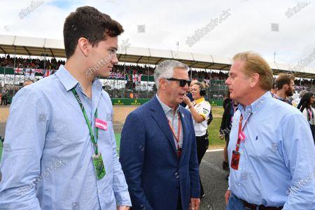 Derek Warwick (GBR) BRDC President and Jonathan Palmer (GBR) on the grid at Formula One World Championship, Rd10, British Grand Prix, Race, Silverstone, England, Sunday 16 July 2017.