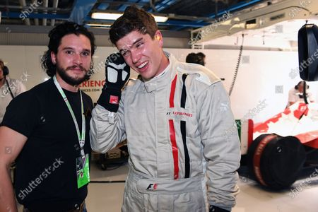 Kit Harington (GBR) Actor and F1 Experiences 2-Seater passenger John Harrington (GBR) at Formula One World Championship, Rd13, Italian Grand Prix, Practice, Monza, Italy, Friday 1 September 2017.