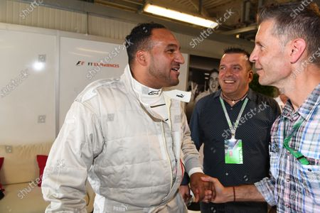 F1 Experiences 2-Seater passenger Michael Caines (GBR) Chef, Stefano Zuech (ITA) Motorsport Consultant and Ted Dobrzynski (CDN) viagp.com at Formula One World Championship, Rd13, Italian Grand Prix, Practice, Monza, Italy, Friday 1 September 2017.