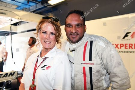 F1 Experiences 2-Seater passenger Michael Caines (GBR) Chef and Belinda Whiteside (GBR) at Formula One World Championship, Rd13, Italian Grand Prix, Practice, Monza, Italy, Friday 1 September 2017.