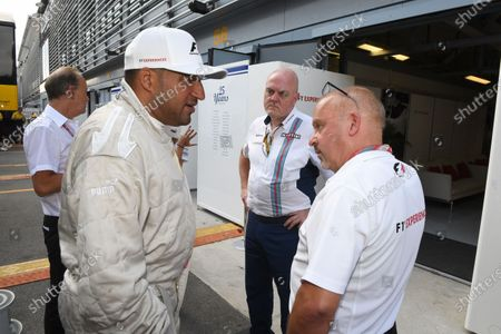 F1 Experiences 2-Seater passenger Michael Caines (GBR) Chef amd Mike Gascoyne (GBR) at Formula One World Championship, Rd13, Italian Grand Prix, Practice, Monza, Italy, Friday 1 September 2017.