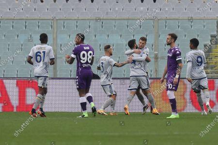 Miguel Veloso (Hellas Verona) celebrates after scoring a goal