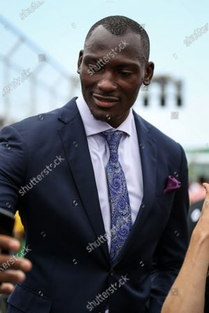 Bismack Biyombo, Basket Ball Player on the grid at Formula One World Championship, Rd7, Canadian Grand Prix, Race, Montreal, Canada, Sunday 11 June 2017.