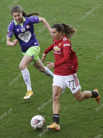 Stock Photo of Tobin Heath (#77 Manchester United) in action