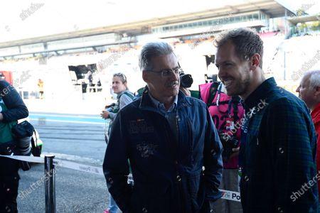 Sebastian Vettel (GER) and Dr. Mario Theissen (GER) at Audi Sport TT Cup, DTM Championship, Hockenheim, Germany, 14-15 October 2017.