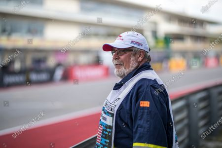 Stock Picture of Bill Thompson (USA) Marshal at Formula One World Championship, Rd17, United States Grand Prix, Qualifying, Circuit of the Americas, Austin, Texas, USA, Saturday 21 October 2017.