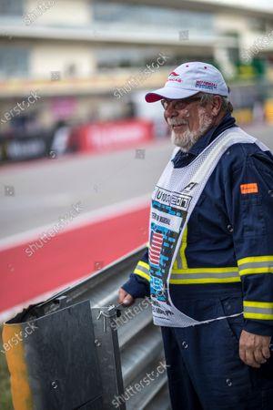 Bill Thompson (USA) Marshal at Formula One World Championship, Rd17, United States Grand Prix, Qualifying, Circuit of the Americas, Austin, Texas, USA, Saturday 21 October 2017.